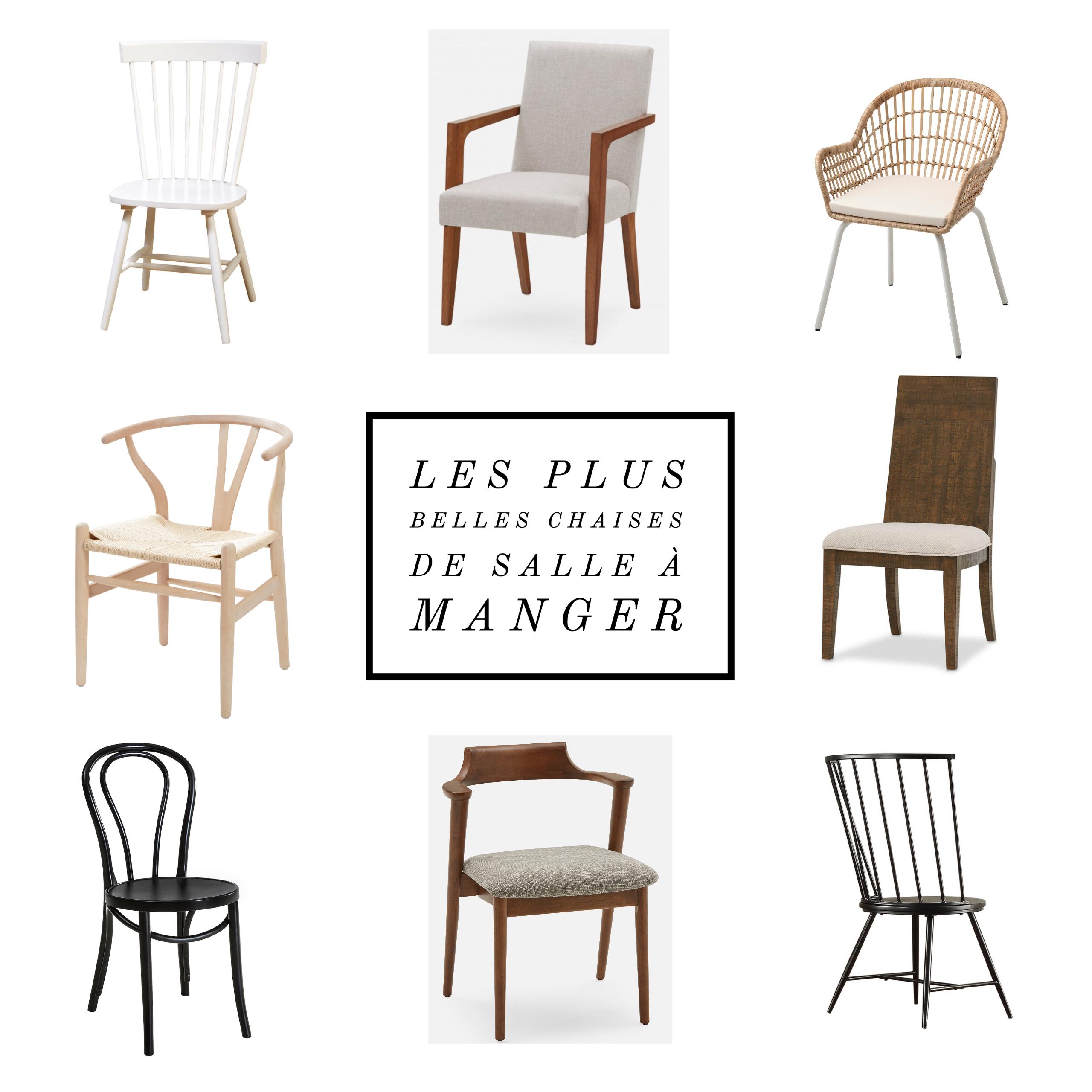 Les plus belles chaises de salle à manger