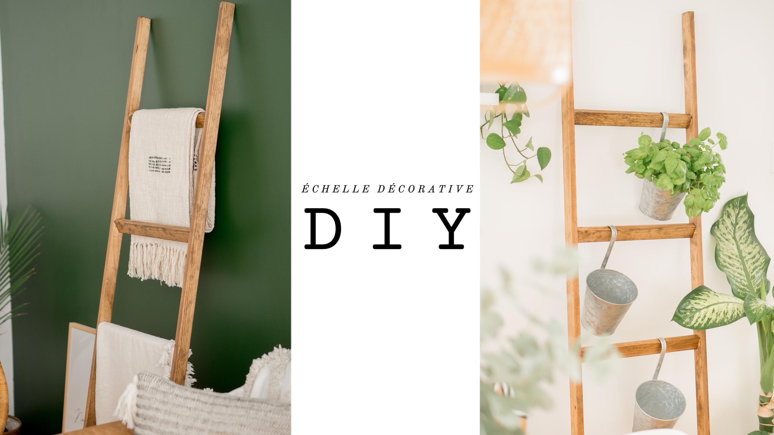Échelle décorative DIY, 4 façons de la styler.